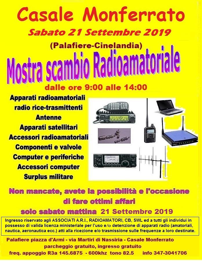 Locandina mostra scambio radioamatoriale Casale Monferrato (ex- Moncalvo)